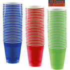 18 oz Party Cups, 96 Count - Royal Blue, Red, Lime Green - 32 Each Color