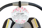 Flower Tag - Stop, Your Germs Are Too Big For Me, Please Look Don't Touch Girl