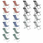 4x Adjustable Metal Garden Deck Chair Folding Portable Headrest
