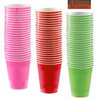 18 oz Party Cups, 96 Count - Hot Pink, Red, Lime Green - 32 Each Color