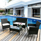 Rattan Garden Furniture Set Table &  Chairs  Outdoor Patio Set Conservatory
