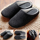 Hot Winter Men's Warm Comfy Cotton Slip On Shoes Indoor House Slippers Shoes