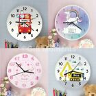 Childrens Personalised Bedroom Wall Clocks - Boys & Girls, 19 Designs, For Kids