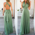 Women Dress Evening Convertible Bridesmaid Fashion Gown Ladies Green RED Wrap