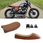 Cafe Racer Retro Flat&Hump Saddle Seat For Honda Kawasaki KZ Triumph Bonneville $34.65 USD on eBay