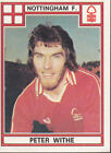 Panini Football 1978 - Peter Withe - Nottingham Forest - # 307