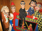 PUNCH & JUDY EARLY VINTAGE SET x 8 PUPPETS--PROF. PUPPETS..NOT TOYS! 45--48 CMS