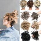Remy Thick 100%  Real Scrunchie Bun Hair Large Messy Updo Silk as Human Blonde