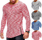 Men's Slim Fit O Neck Long Sleeve Muscle Tee Shirts Casual T-shirt Tops Blouse image