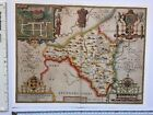 """Old Antique Tudor map of Radnorshire, Wales: John Speed 1600's 15"""" x 11"""" Reprint"""