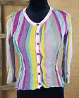 Louise Della women 1/XS button down mesh shirt boho chic France sequence