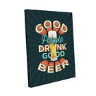 Click Wall Art Good People Drink Good Beer Textual Art on Wrapped Canvas