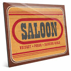 Click Wall Art 'Saloon Sign' Textual Art on Plaque