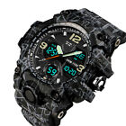SKMEI Men's Outdoor Sports Dual time Display Waterproof Military Wrist Watch US image