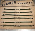 Women's Cordette NOS black or green cocktail art deco cord watch strap