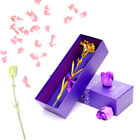 24k Gold Plated Rose/Carnation Flowers Anniversary Mothers Day Girlfriend Gifts