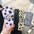 Luxury Unique Leopard Case with Pop Up Holder Phone For iPhone 6 7 8 X Plus