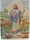 "Vintage Paint-by-Number Jesus Shepherd and the Lambs 12"" x 16"""