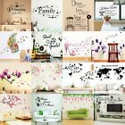 Flower Tree Quotes Wall Sticker Art Living Room Removable Decals Home Decorpruk