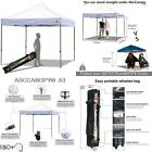 Abccanopy Pop Up Canopy Tent Commercial Instant Shelter With Wheeled Carry Bag,
