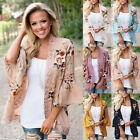 Plus Size Womens Lace Floral Kimono Holiday Cardigan Lady Summer Top Blouse Coat