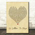 A Letter To Elise Vintage Heart Quote Song Lyric Print