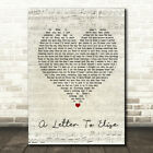 A Letter To Elise Script Heart Quote Song Lyric Print