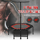 """40""""/ 48"""" Trampoline Fitness Exercise Fitness Gym Rebounder Cardio Trainer Jump image"""
