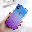 NEW For i Phone XS Shockproof Ultra Thin Clear Gradient Color Case TPU Cover