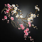2pcs Plum Blossom Flower Applique Embroidery Patch Iron On Patch