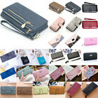 Women Long Leather Thin Wallet Cute Bow Purse Multi ID Credit Card Holder Phone