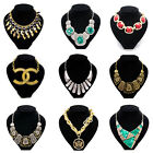 Buy 2get 1free Fashion Crystal Charms Chunky Necklace Statement Chain Jewellery