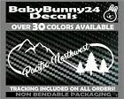 Pacific Northwest PNW mountains trees infinity Truck Van Car Vinyl Decal Sticker