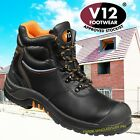 V12 ENDURA II STEEL TOE LEATHER WORK SAFETY TOE CAP & MIDSOLE BOOTS