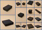Black Card Boxes Flocked Pad Jewellery Gift Favour Present Shop Watch Ring Kraft