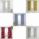 Catherine Lansfield Canterbury Floral Lined Blackout Eyelet Curtains