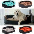 Deluxe Soft Washable Dog Pet Warm Basket Bed Leather Cushion with Lining [MOLLY]