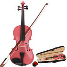 Mutil Color 4/4 Size Basswood Acoustic Violin Fiddle Set with Case Bow Rosin