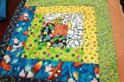 Brightly Colored Children's Wall Hanging/Table Runner Machine Quilted Unfinished