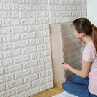 Uk 10pc Stone Brick Pattern 3d Pe Foam Self-adhesive Wall Sticker Home Decor Pt