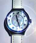 Swarovski Dreamy Pearl Dial White Leather Strap Women's Swiss Watch 5199946 New