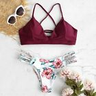 Women's Swimming Suit Sexy Bikini Swimsuit WWomen's Bikini Cut Flower Two Piece