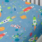 Bedlam Supersonic Glow in the Dark Print Fitted Sheet, Blue
