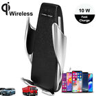 10W Qi Wireless Fast Charge Car Air Vent USB Charger Phone Dock Mount Auto-Size