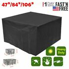 """47/84"""" Waterproof Table Chair Set Cover Outdoor Patio Garden Furniture Covers"""