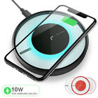 Qi Fast Wireless Charger Charging Pad for iPhone XS/Max/XR/X/8 Galaxy S10/S9+