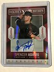 Spencer Adams 2014 Panini Elite Extra Edition Autographed Prospects 129/549 Card