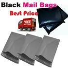STRONG GREY/black MAILING POST MAIL POSTAGE BAGS POLY POSTAL SELF SEAL ALL SIZES