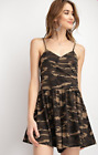 EASEL ANTROPOLOGIE BRAND CAMO PRINTED RAYON SPAN SHORT ROMPER Size S NWT