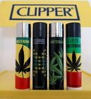 Clipper Lighters x4 Rare Cool Amsterdam Jamaican Jamaica Weed Leaf Smoke Gift